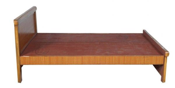 Baffin Teak Wood King Size Bed With Natural Teak Finish [with Mattress]