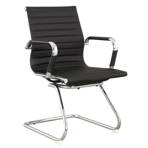Holm Cantilever Chair in Black Colour