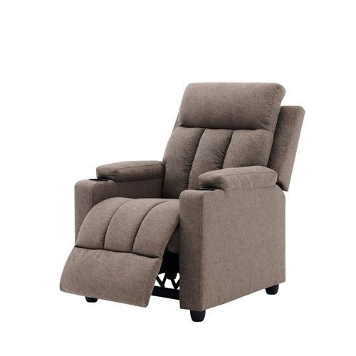 METRO MANUAL PUSH BACK RECLINER WITH CUP HOLDER