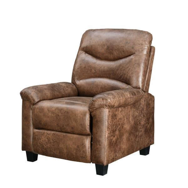 Venice Faux Suede Recliner Chair In Light Brown Colour